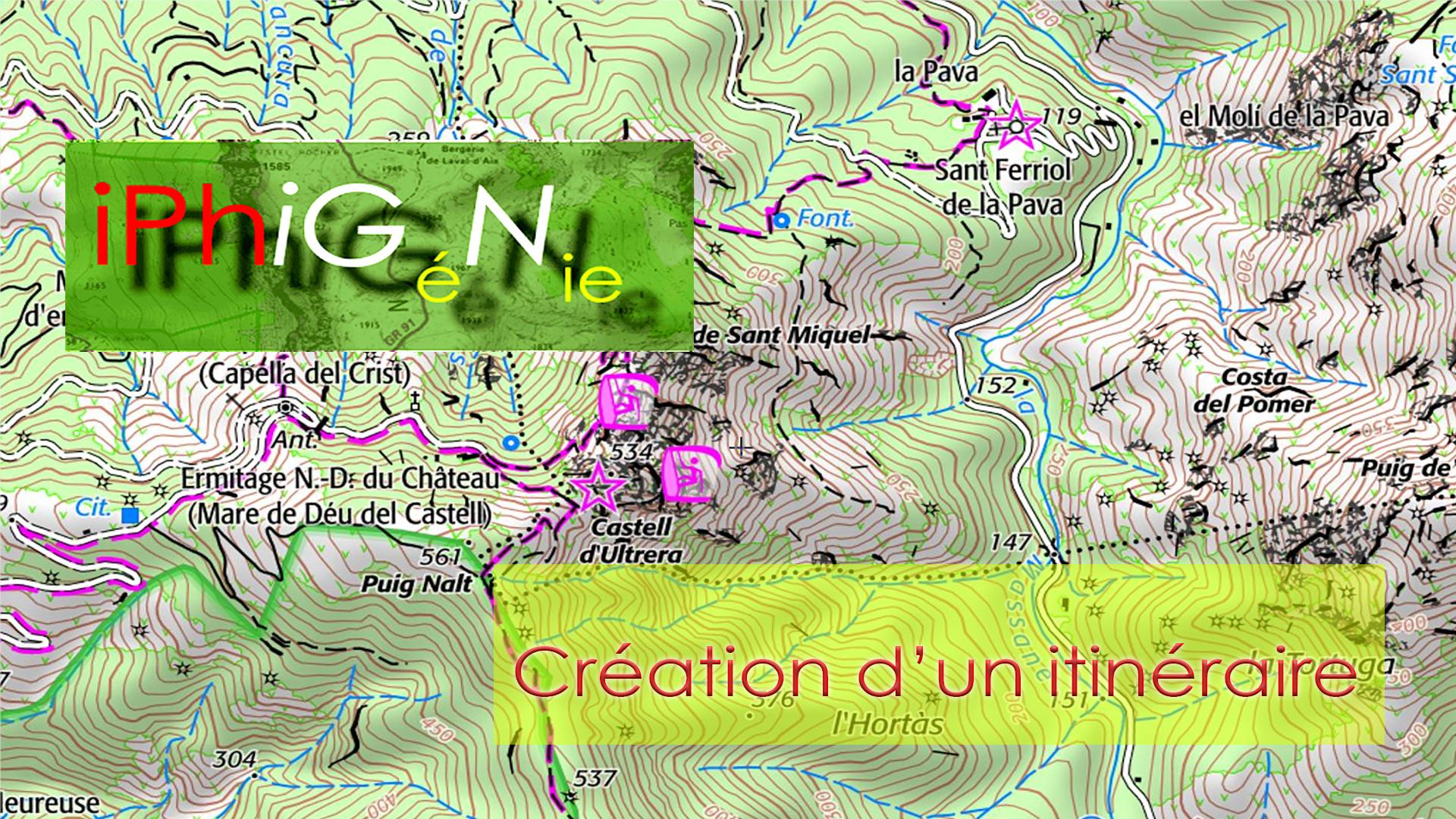 Création-itinéraire